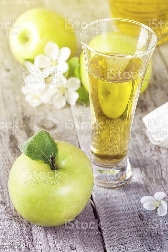 Glass of fresh apple juice royalty-free stock photo