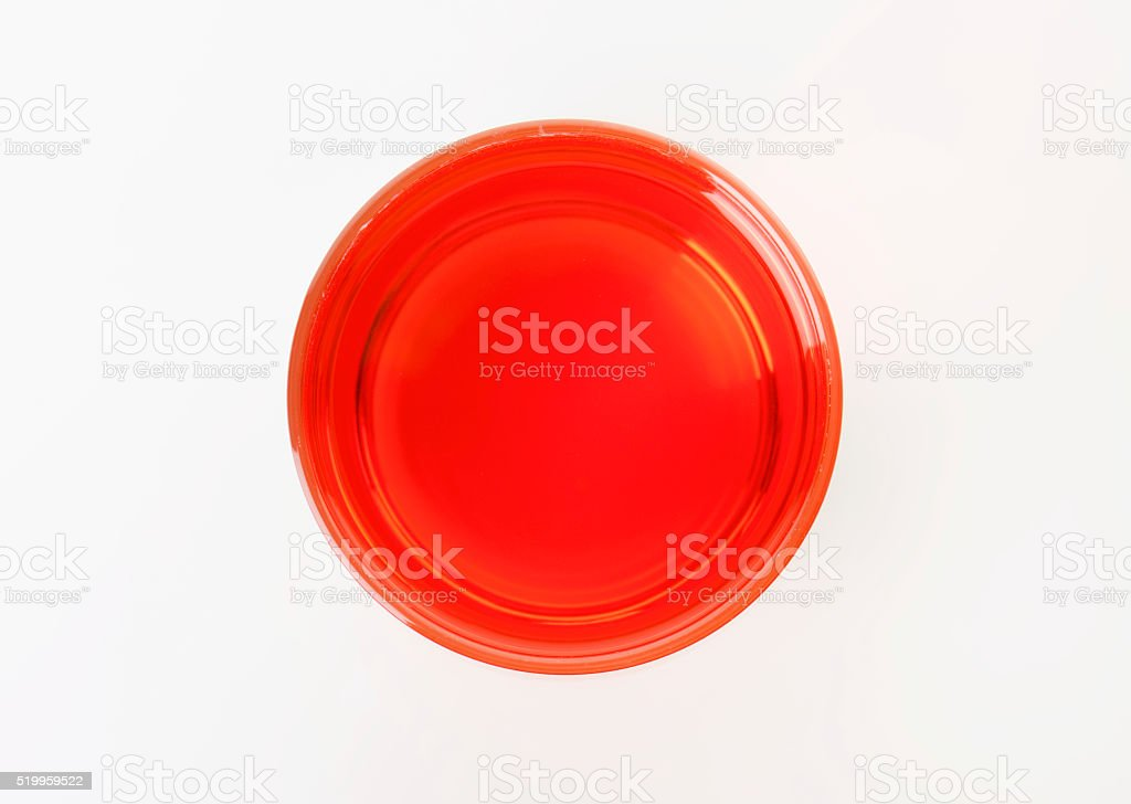 Glass of fresh red juice stock photo