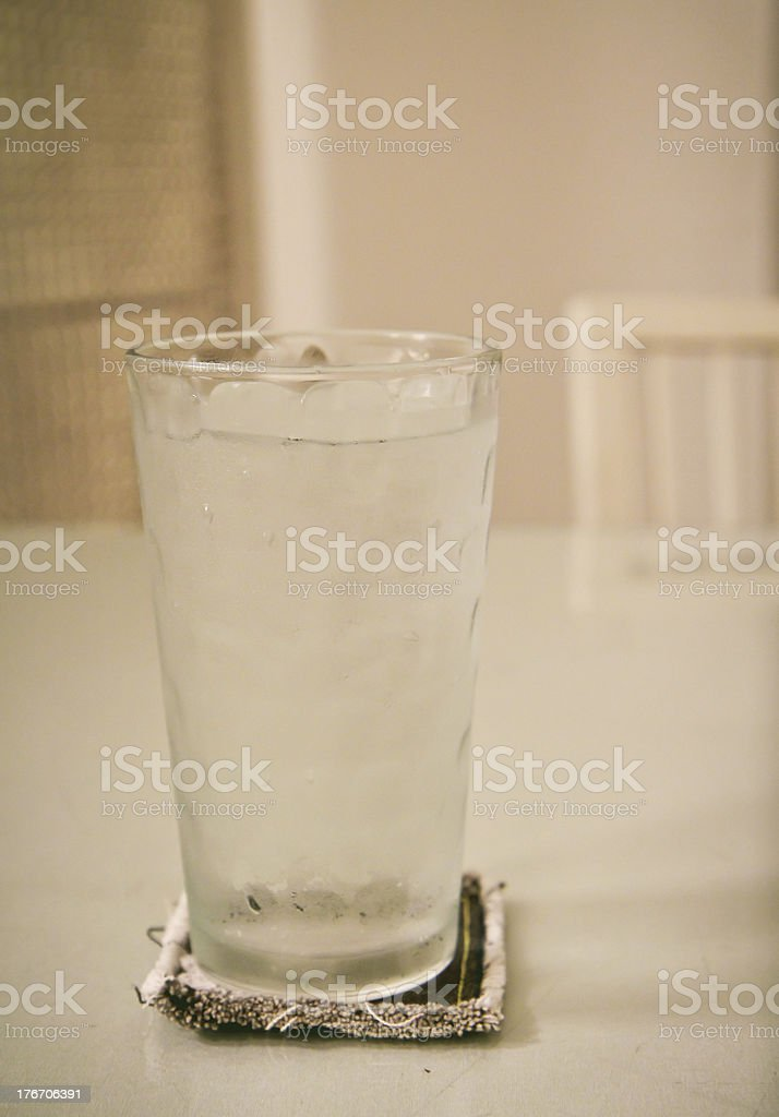 glass of fresh water with ice royalty-free stock photo