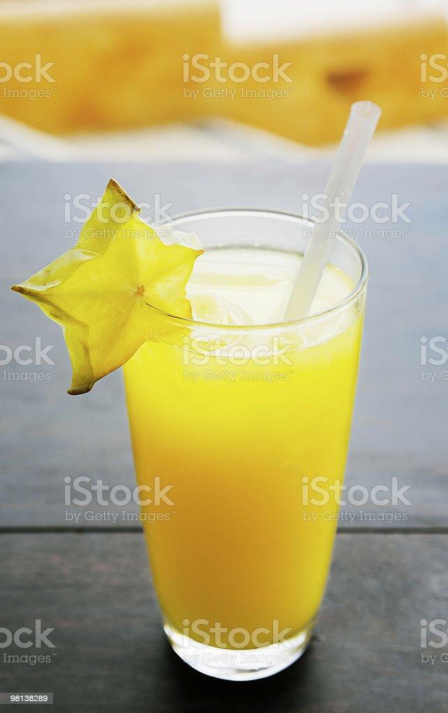 glass of fruit orange juice royalty-free stock photo