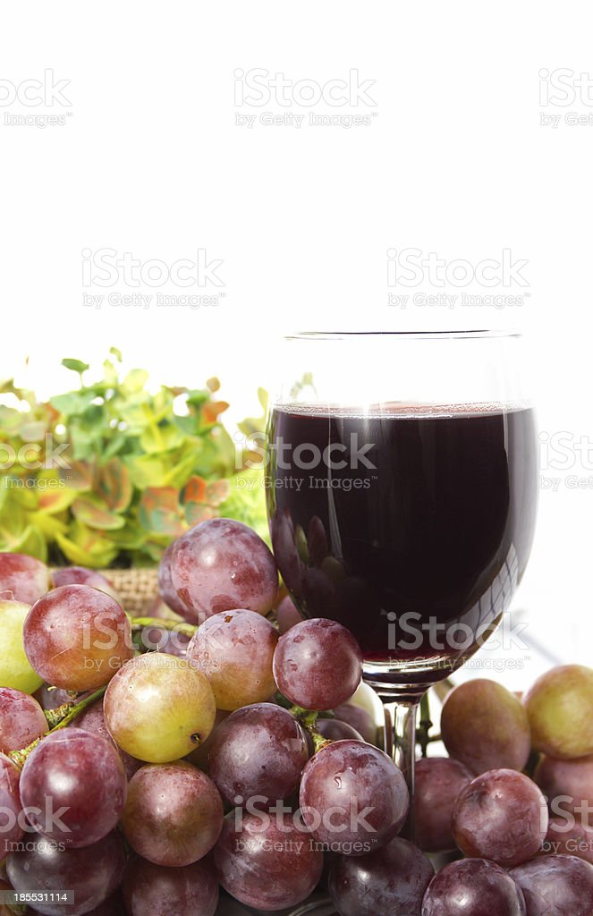 Glass of grape juice royalty-free stock photo