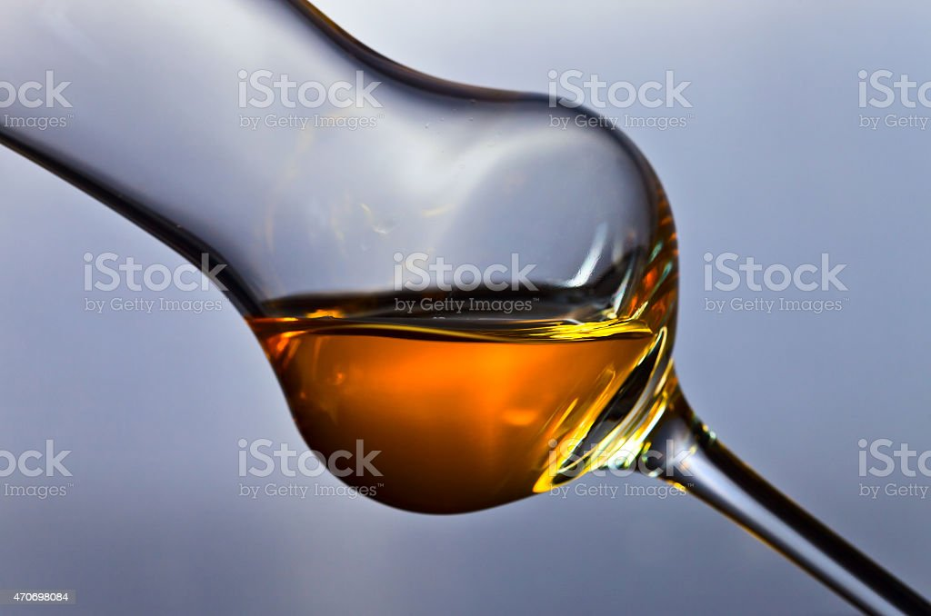 Glass of grappa stock photo