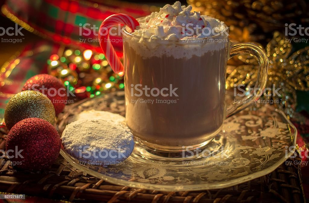 Holiday Hot Chocolate stock photo