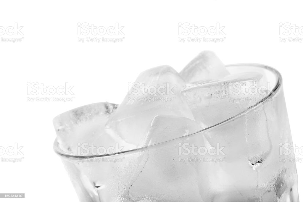 Glass of ice isolated royalty-free stock photo