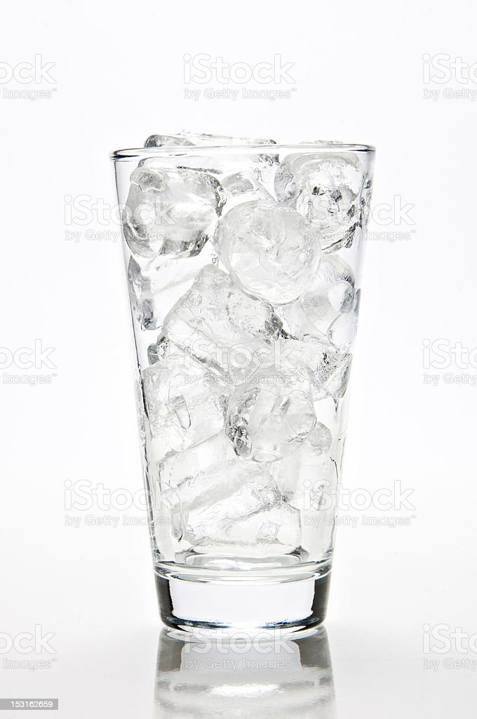 glass of ice royalty-free stock photo