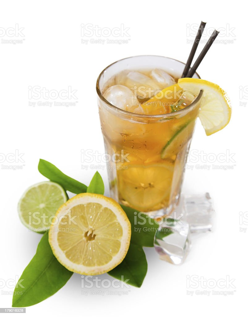 Glass of ice tea royalty-free stock photo