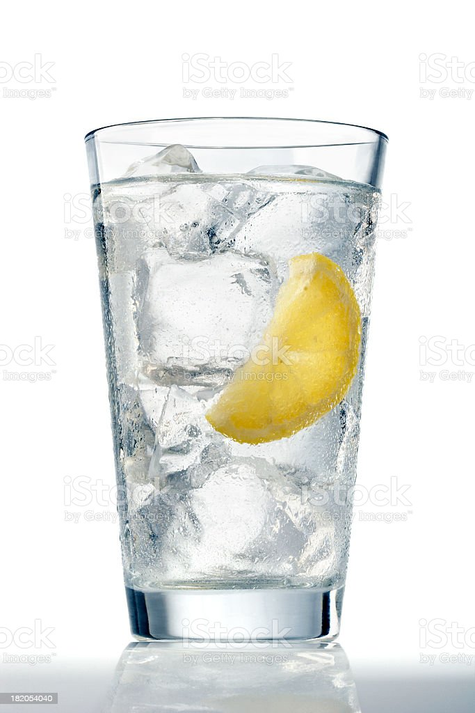 Glass of Ice Water stock photo