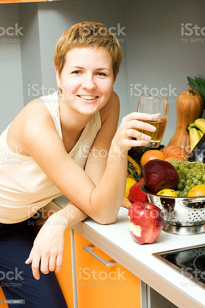 Glass of juice royalty-free stock photo