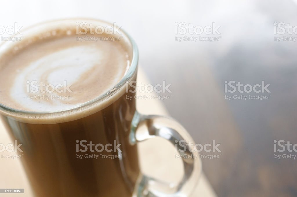 glass of latte coffee royalty-free stock photo