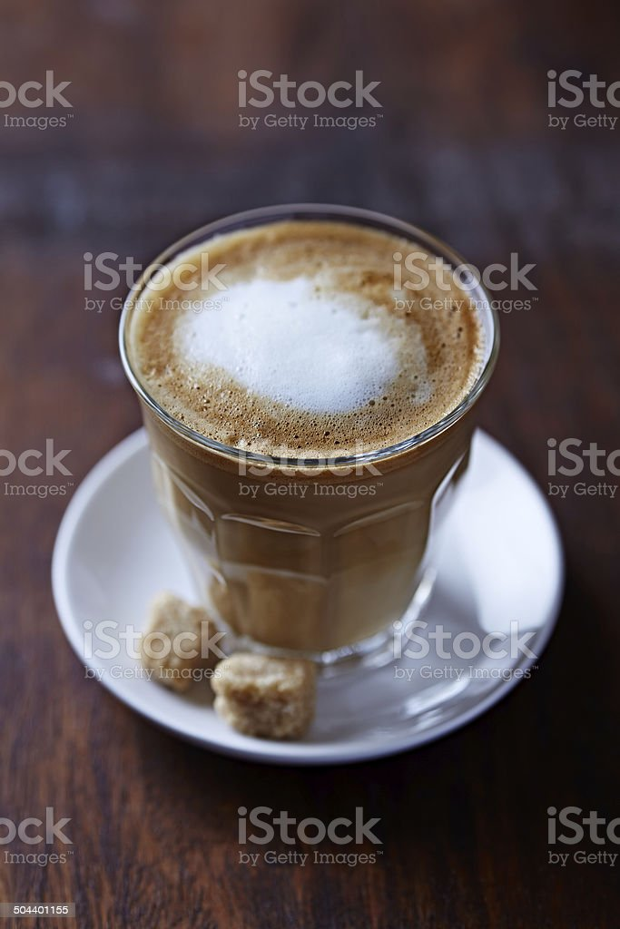 Glass of Latte Coffee stock photo