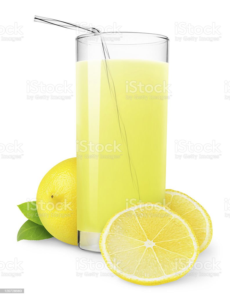 Glass of lemonade royalty-free stock photo