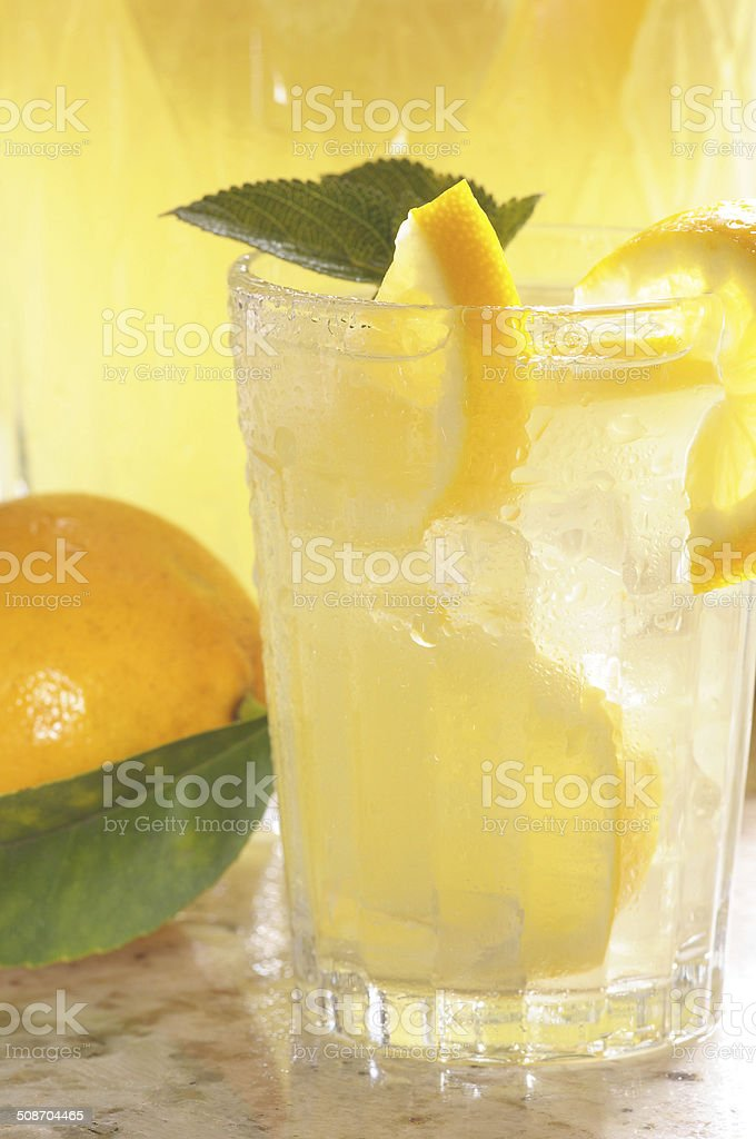 Glass of Lemonade stock photo
