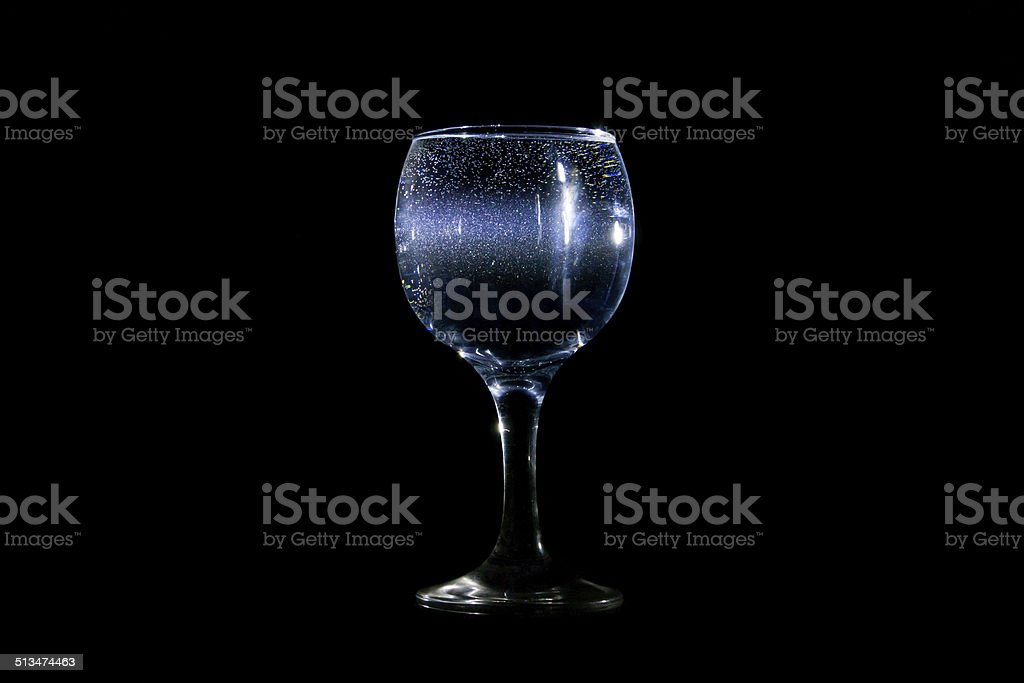 Glass of light stock photo