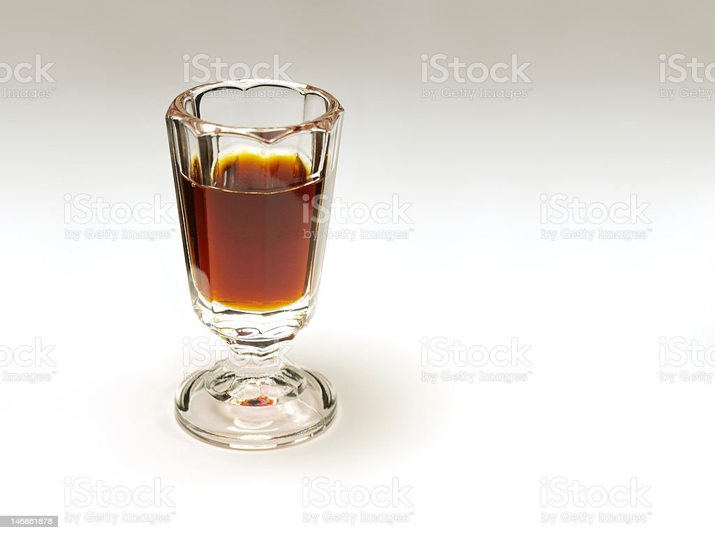 glass of  liqueur stock photo