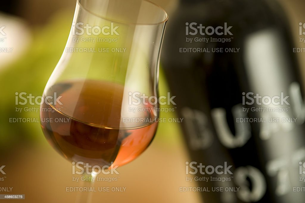 Glass of Madeira Wine from 1977 stock photo