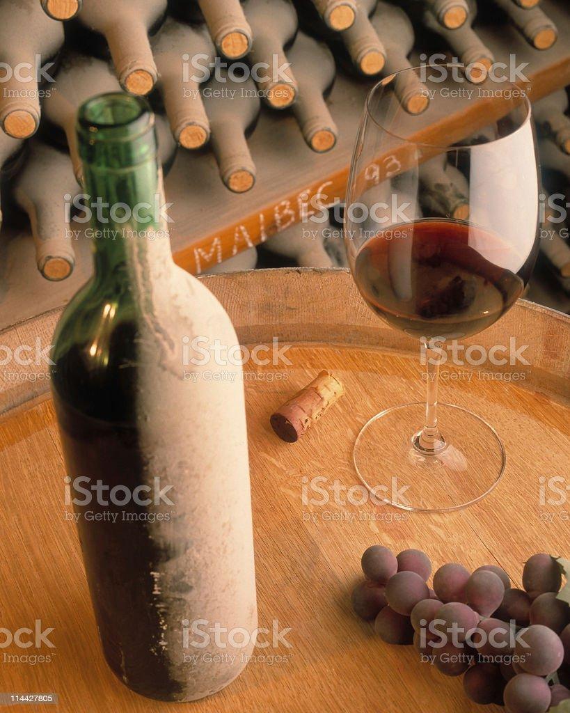 glass of malbec wine royalty-free stock photo