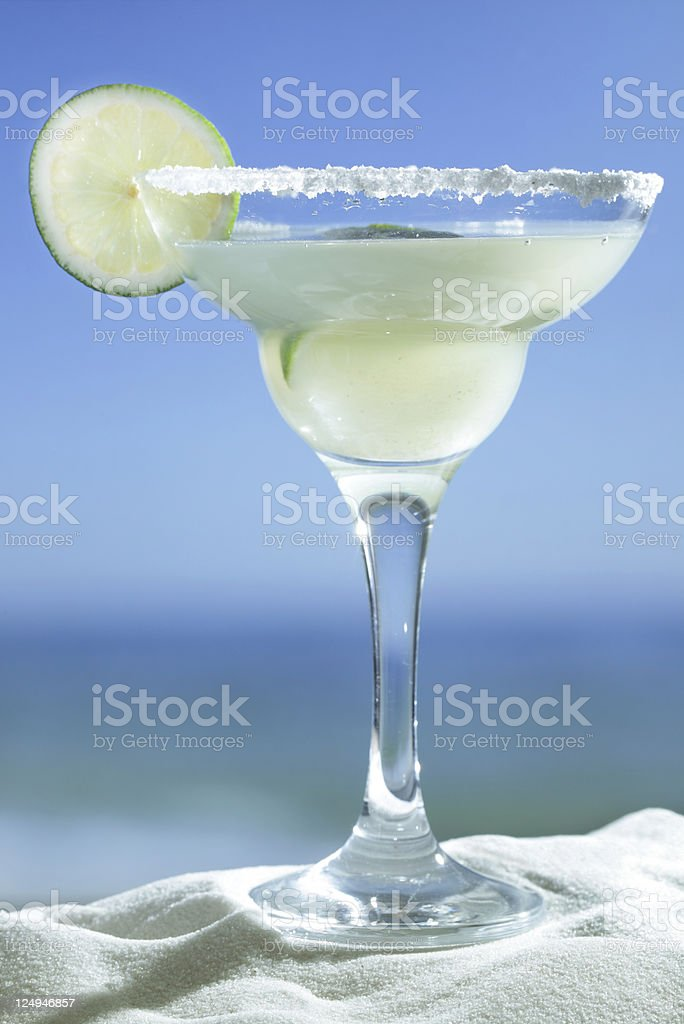 Glass of Margarita coctail stock photo