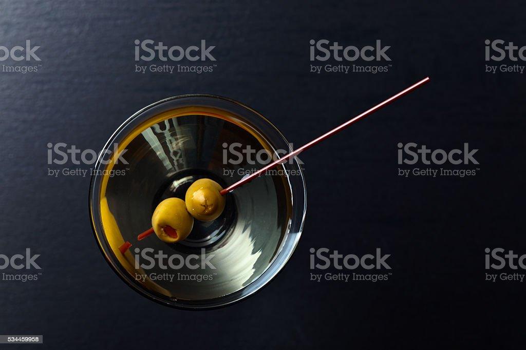 glass of martini stock photo