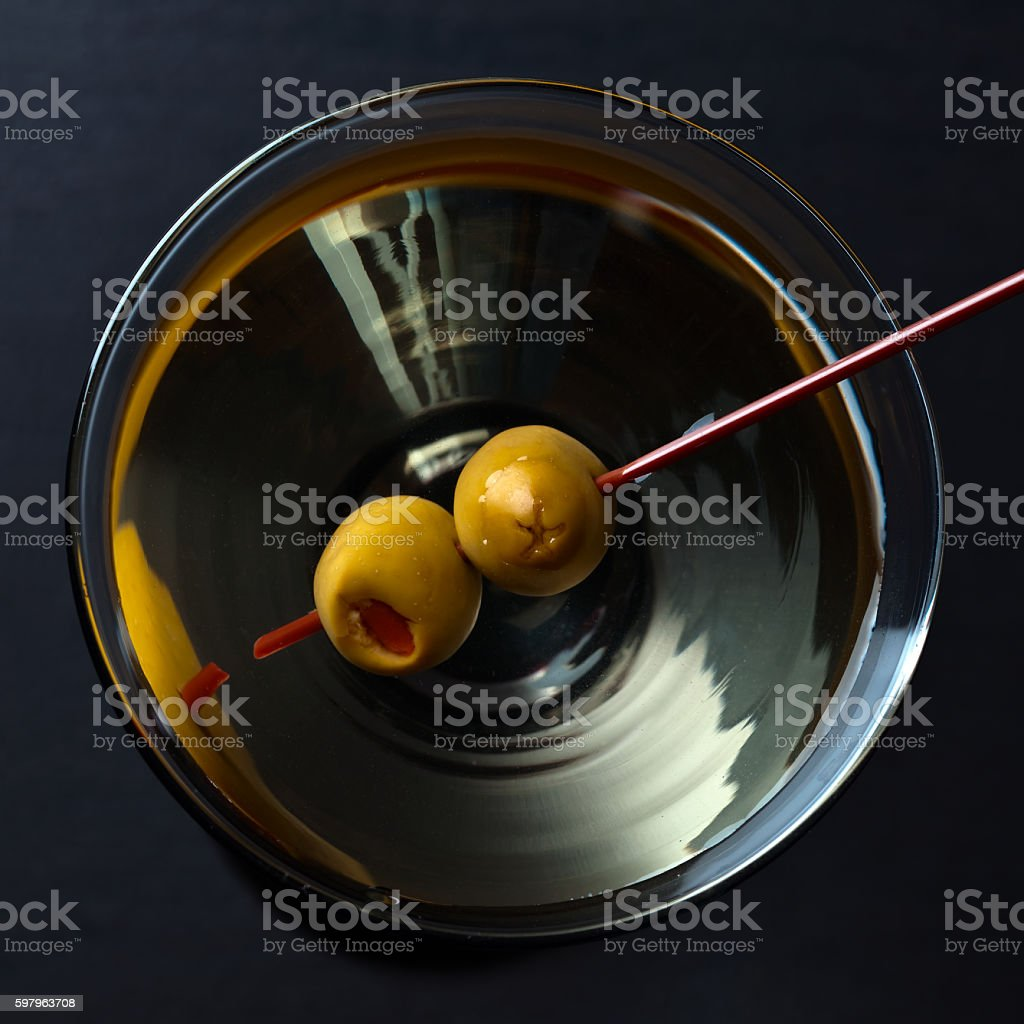glass of martini stock photo