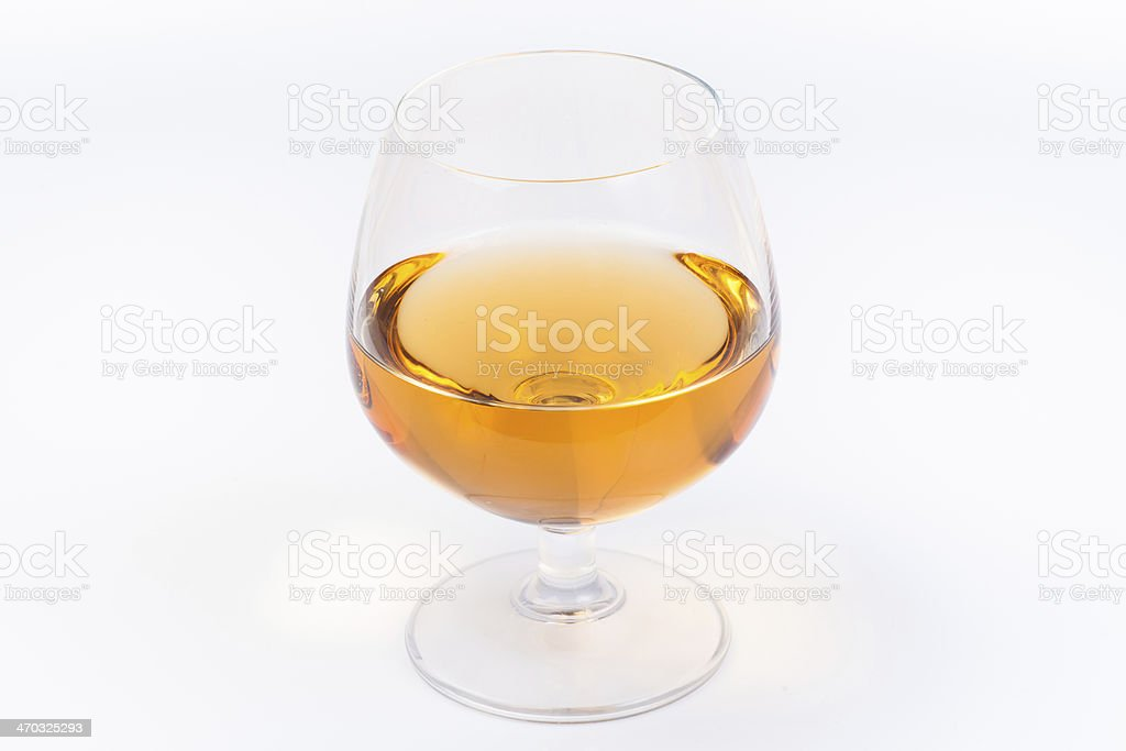 Glass of mead stock photo
