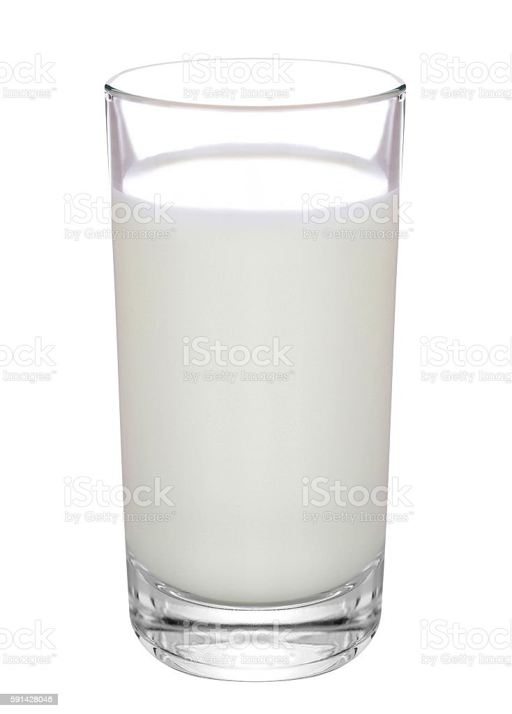 glass of milk isolated stock photo