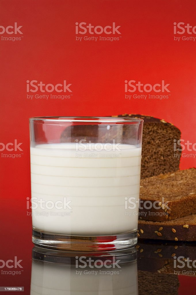glass of milk royalty-free stock photo