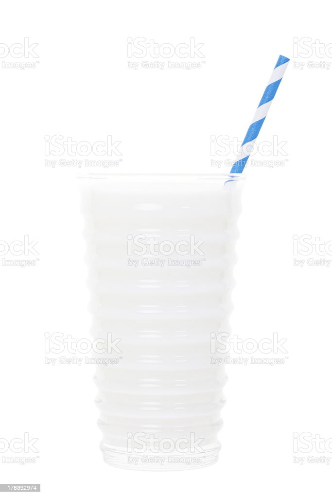 Glass of Milk with Clipping Path stock photo