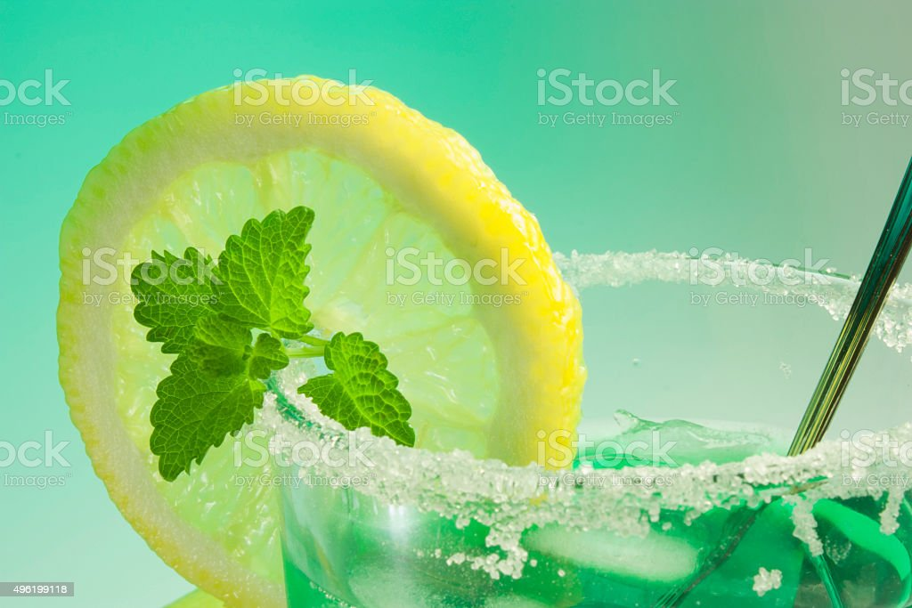 glass of mint stock photo