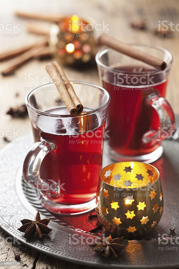 glass of mulled wine royalty-free stock photo