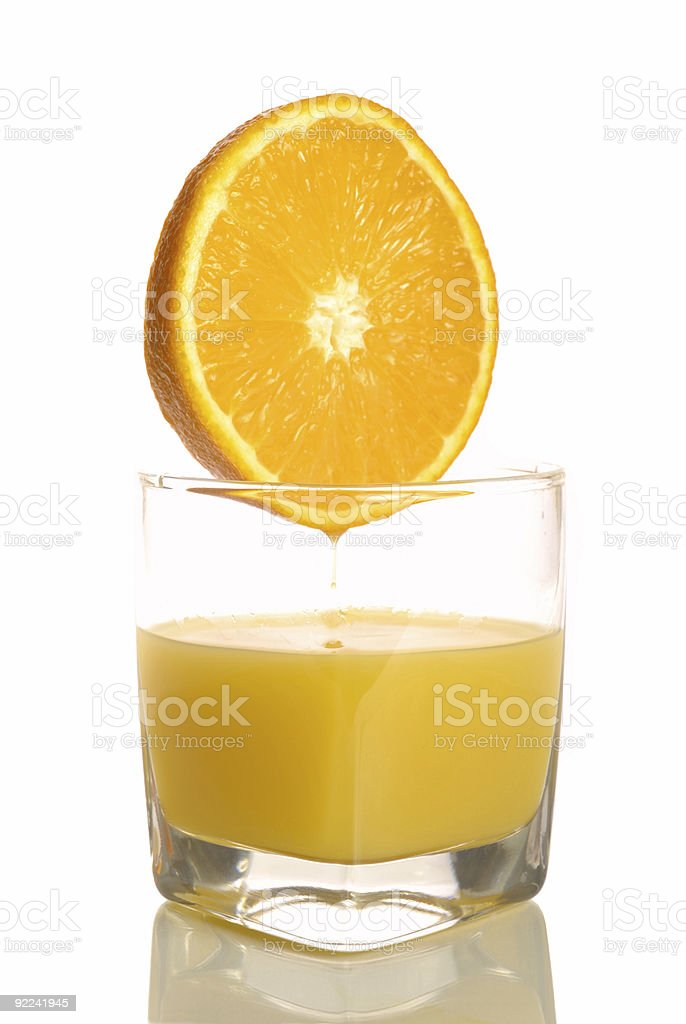 glass of orange juice royalty-free stock photo