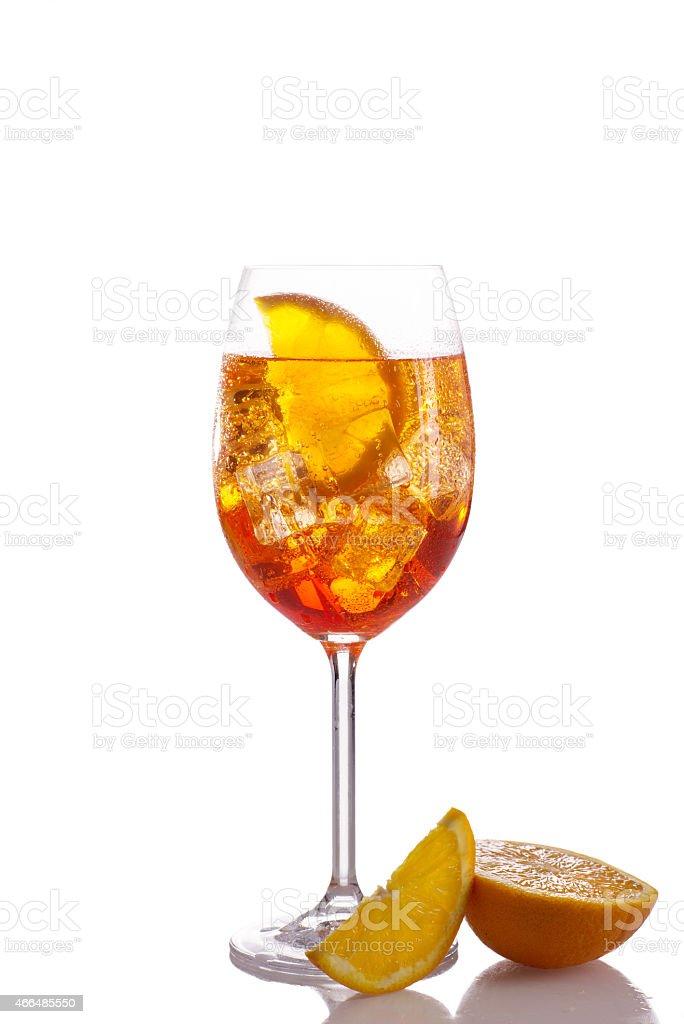 Glass of orange light drink stock photo