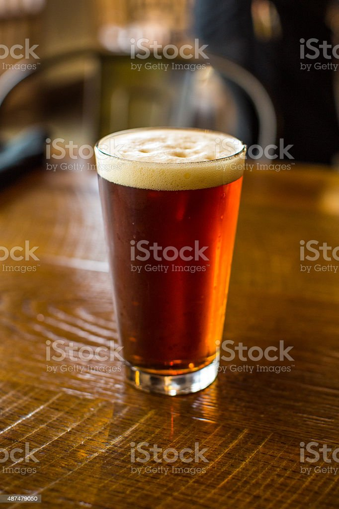 Glass of Pale Ale stock photo