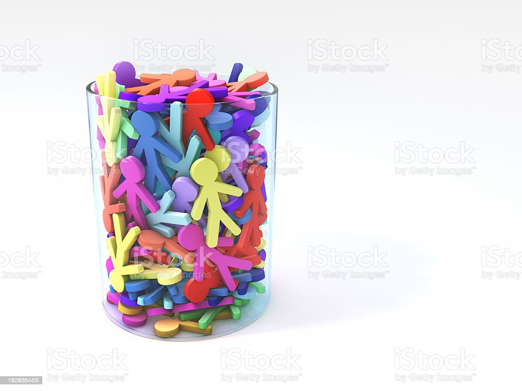 Glass of people symbol royalty-free stock photo