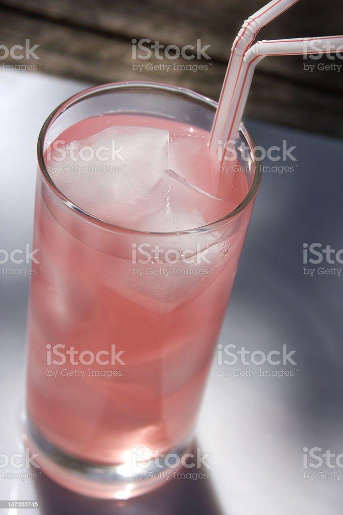 Glass of Pink Lemonade royalty-free stock photo