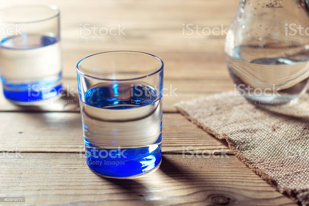 Glass of pure spring water. Mineral water stock photo