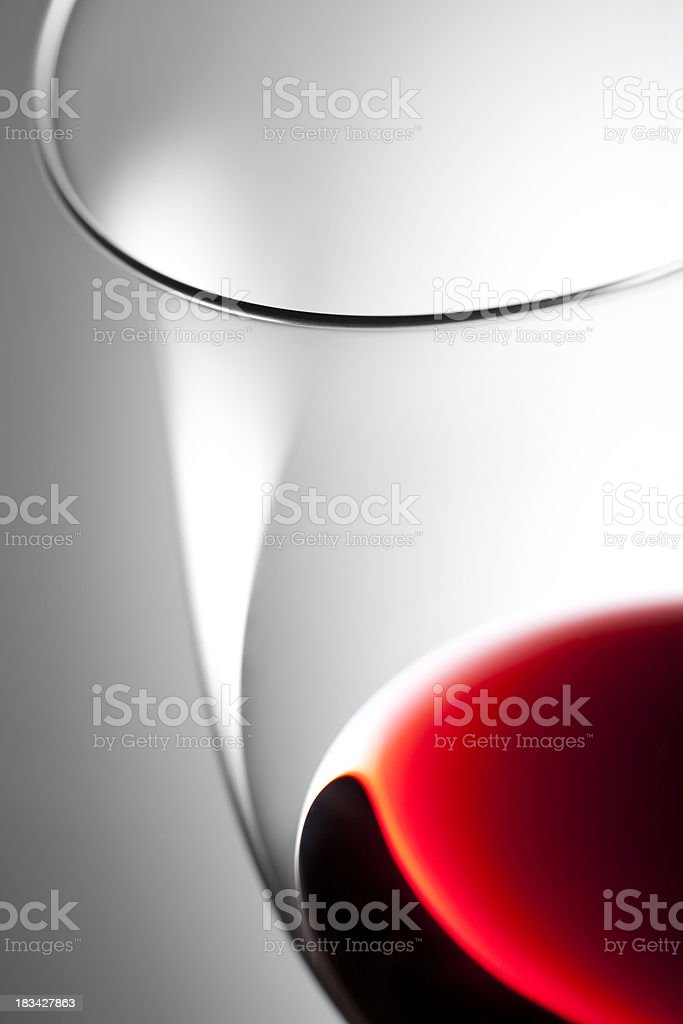 Glass of red wine for wine tasting stock photo