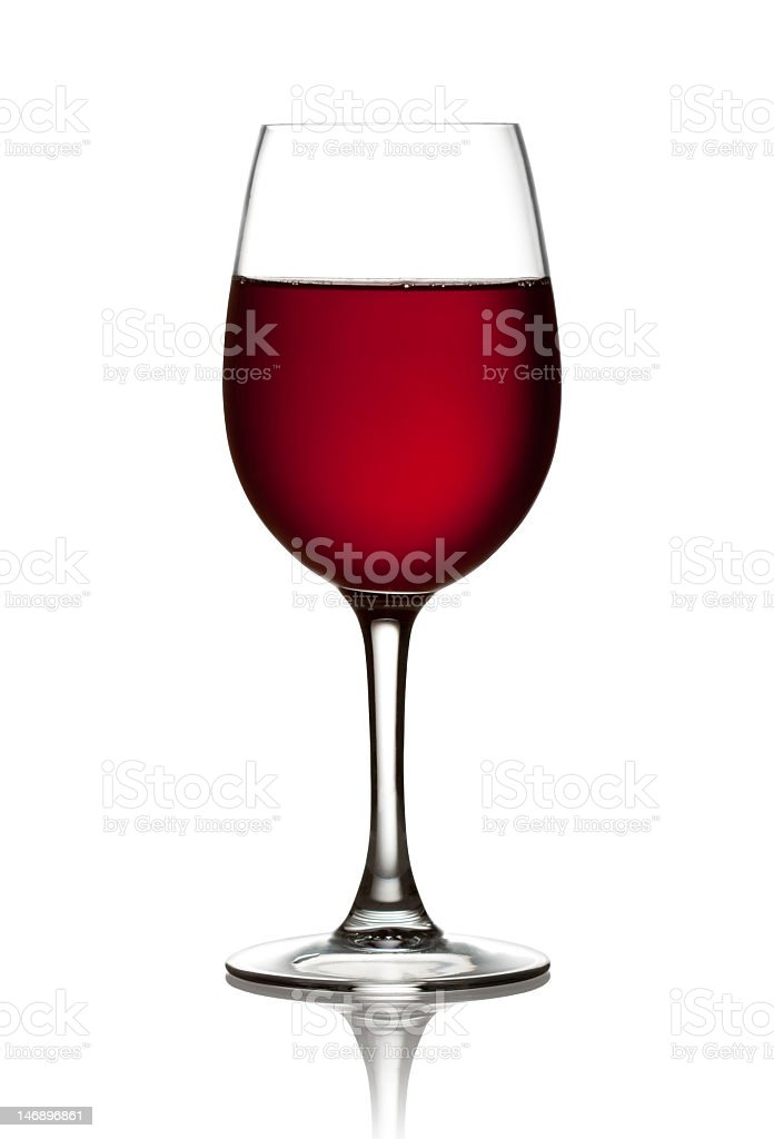 Glass of red wine isolated on white royalty-free stock photo