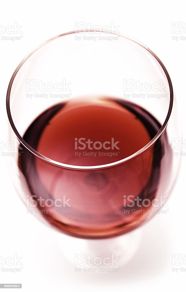 Glass of Red Wine (Close Top View) royalty-free stock photo