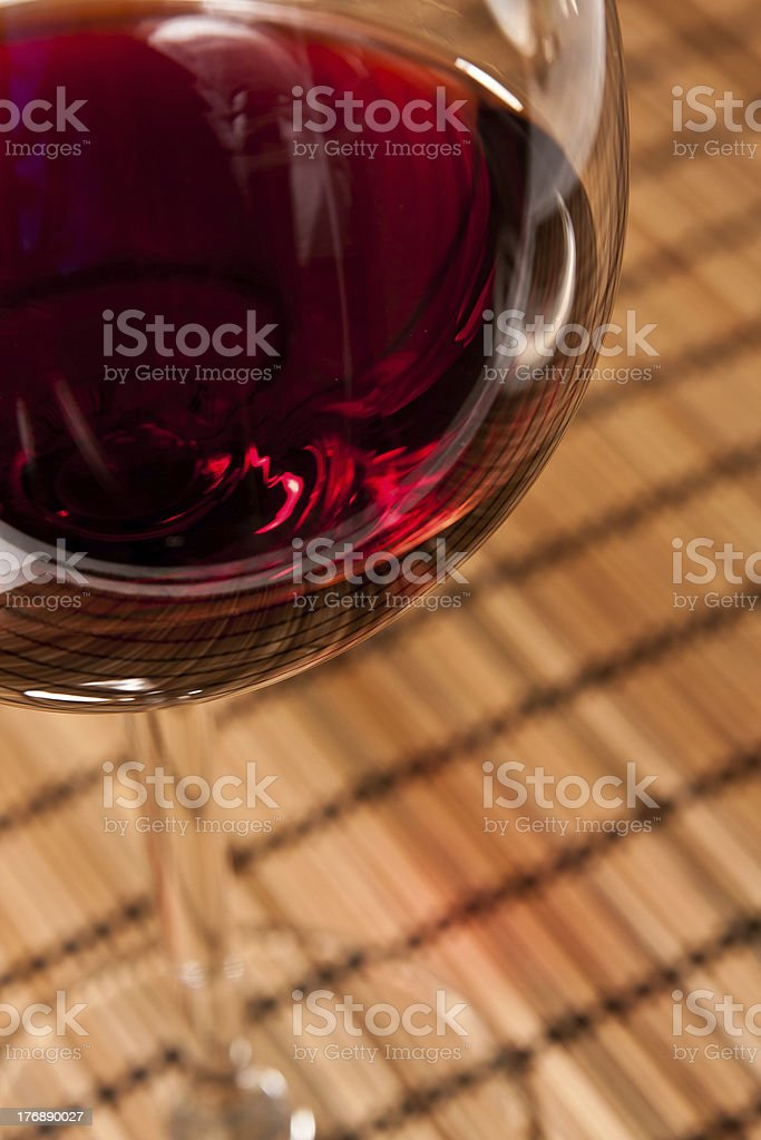 Glass of red-wine royalty-free stock photo
