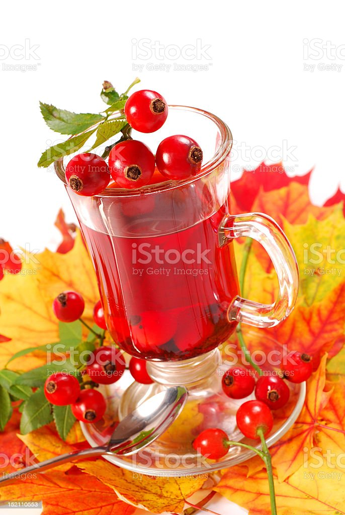 glass of rose hip tea royalty-free stock photo