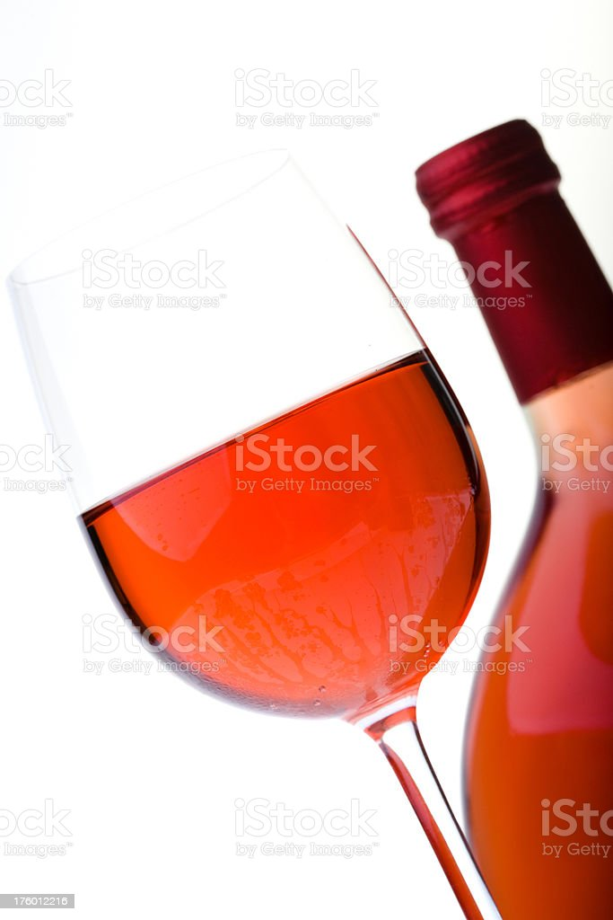 Glass of rose wine royalty-free stock photo
