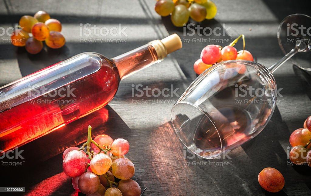 Glass of rose wine stock photo