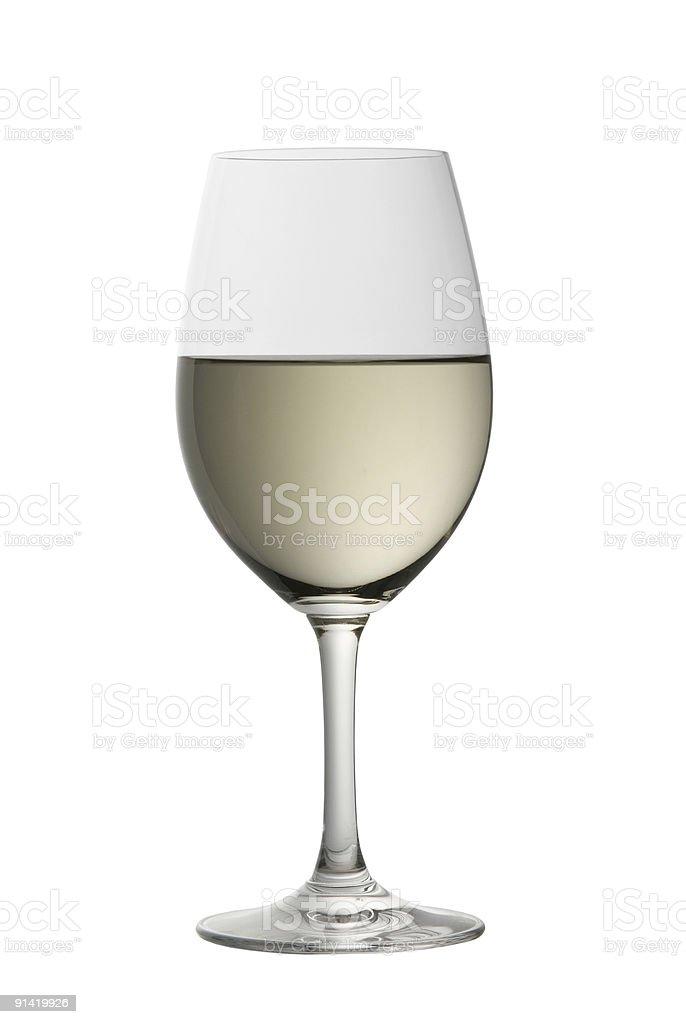 Copa de sauvignon blanc foto de stock libre de derechos