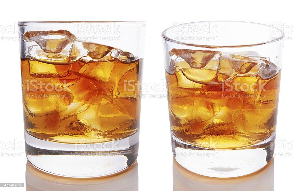 Glass of scotch stock photo