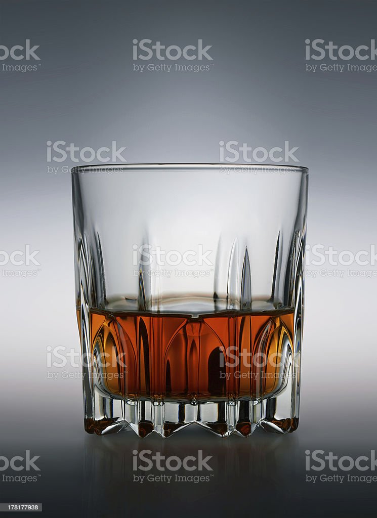 Glass of scotch whiskey royalty-free stock photo