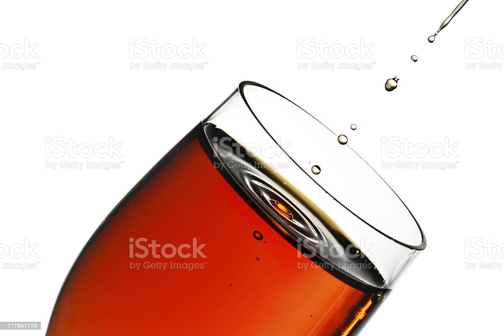 glass of sherry royalty-free stock photo