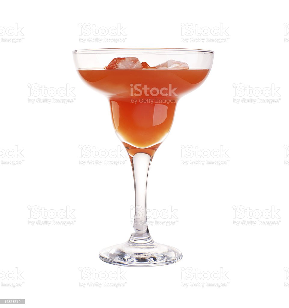 glass of sidecar cocktail with tangerine royalty-free stock photo