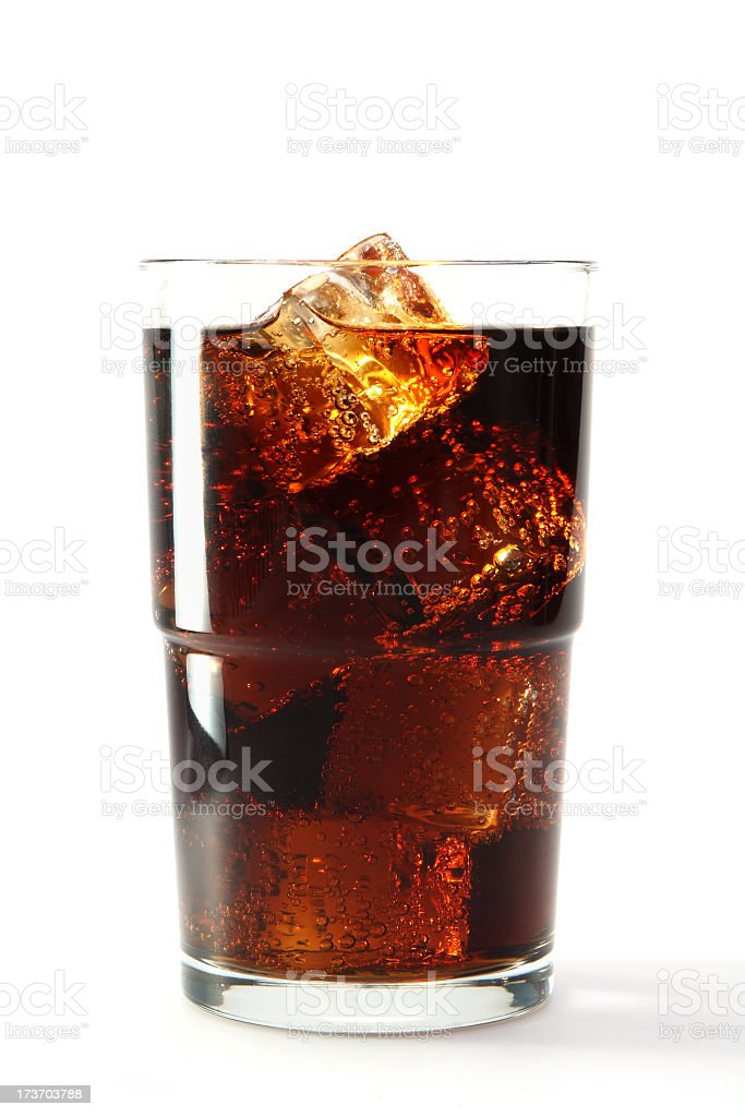 Glass of soda filled to the top royalty-free stock photo