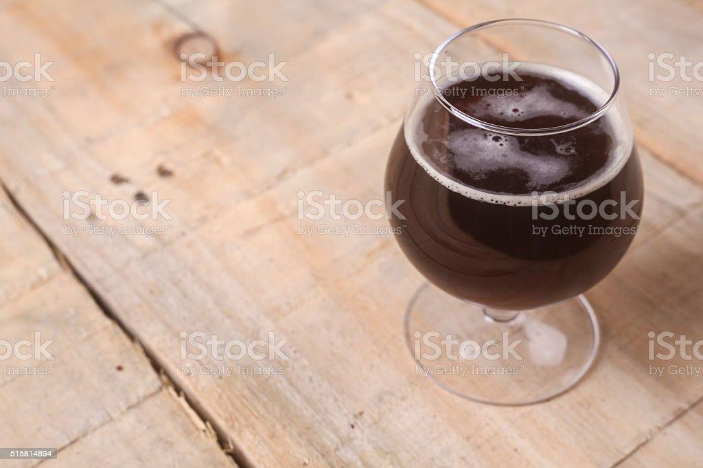 Glass of stout stock photo