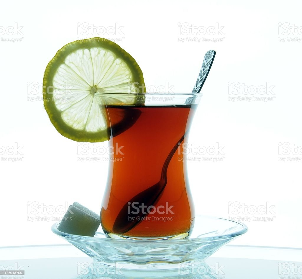 Glass of tea. stock photo